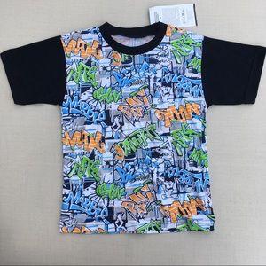 Other - NWT!  Cool Graffiti Print Cotton T-Shirt - 5/6T